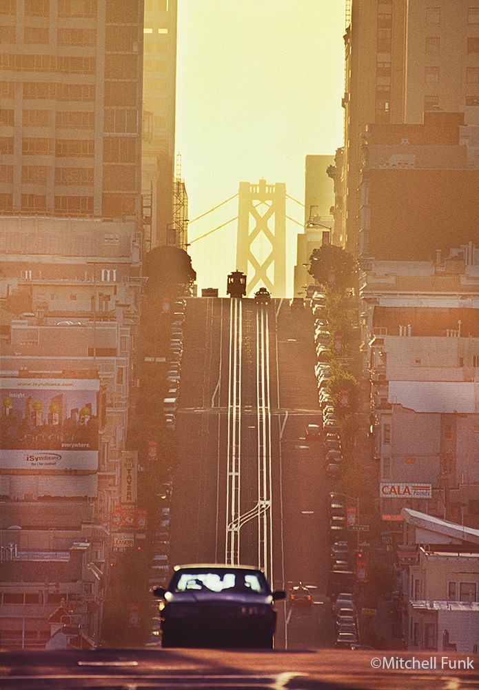 San Francisco Kaiser Map%0A Cable Car At Top Of Nob Hill At Sunrise  San Francisco By Mitchell Funk  mitchellfunk
