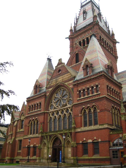 Memorial Hall Is An Imposing Brick Building In High Victorian Gothic Style