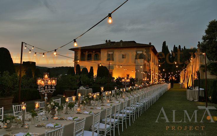 ALMA PROJECT @ Gamberaia - Light BULBS string fairy palo sunset facade uplights amber 23