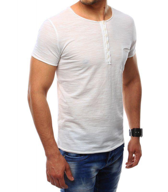 Pánske tričko s vreckami biele