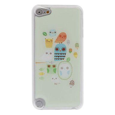 frisse stijl uil en lantaarn patroon epoxy harde case voor ipod touch 5 - EUR € 4.59