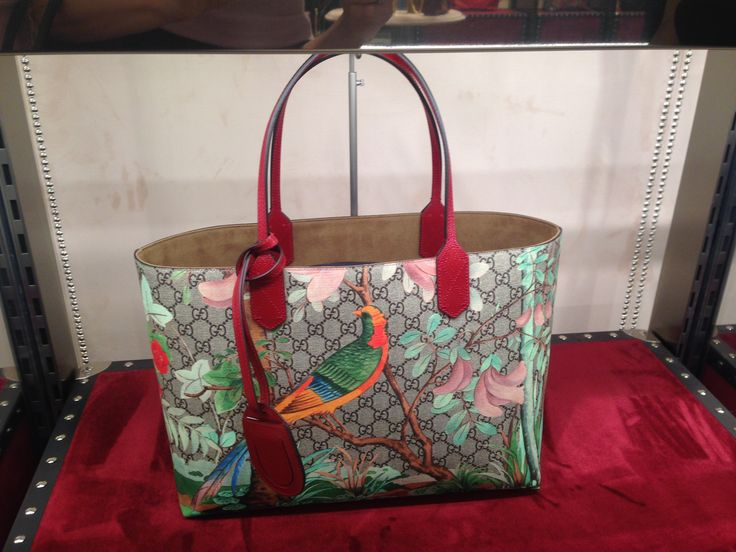 "Louis Vuitton's ""nature"" shopping bag."