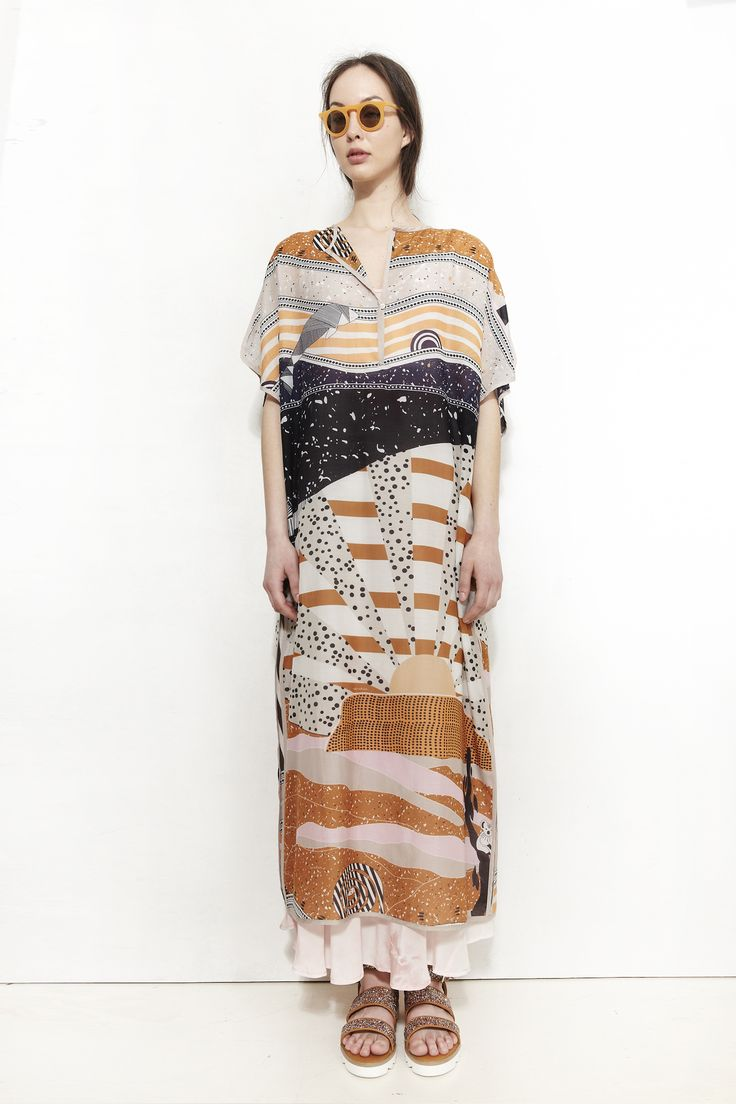 NANUSHKA, Mata Kaftan Dress, Story Print | Mr. Larkin
