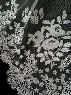 Antique lace detail