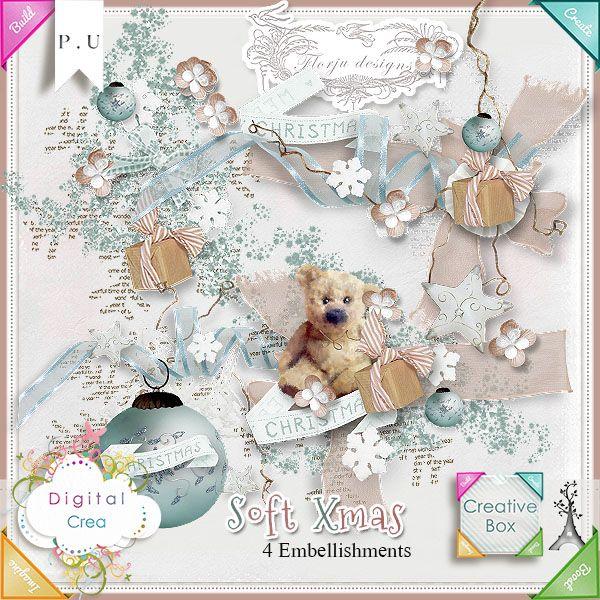 Soft Xmas { Embellissements } Florju Designs