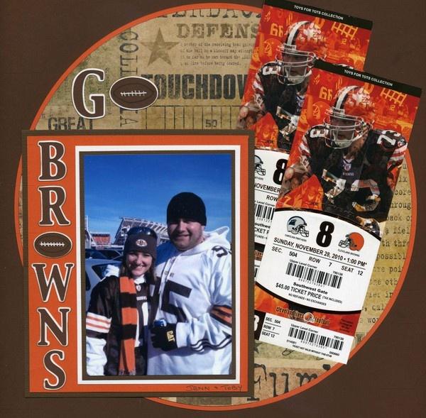 Cleveland Browns Football scrapbook layout