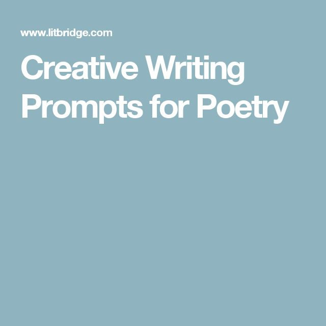 poetry writing assignment college