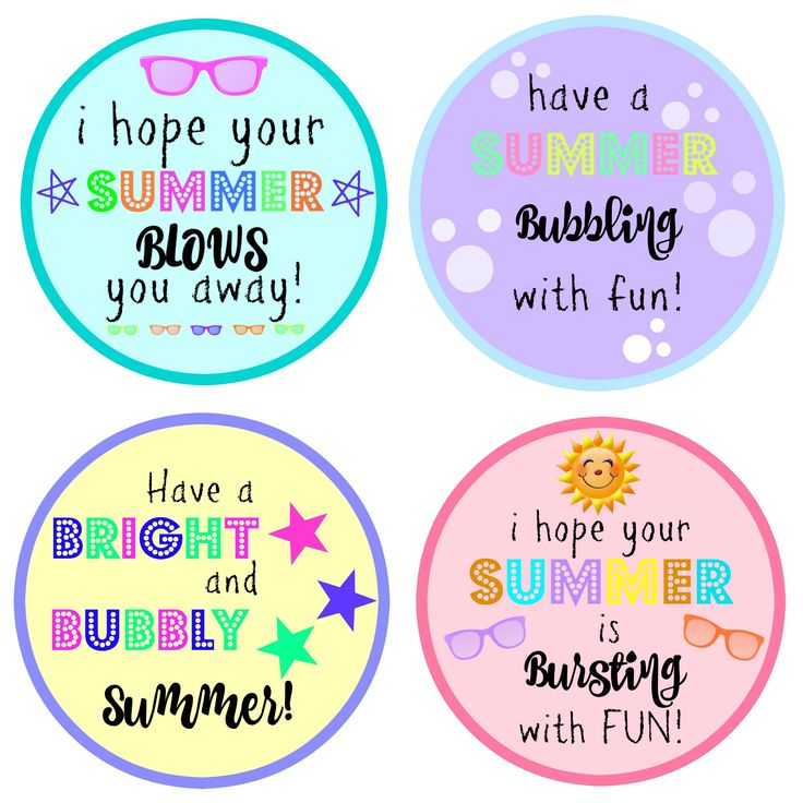End of Year Gift: Bubbles with FREE Printable