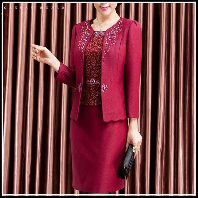 2 Piece Set Women Business Suits Formal Office Suits Work 2016 Uniform Designs Lace Dress Suit for Ladies Plus size M XL 3XL 4XL US $69.99 /piece    CLICK LINK TO BUY THE PRODUCT  http://goo.gl/oYWEYs