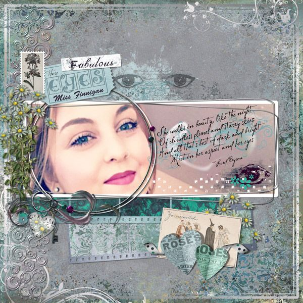I used Fit To Be Fab Kit by Elizabeth's Market Cross.