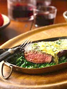 Copycat recipe: Morton's Steakhouse Steak Florentine  - Recipelink.com #copycat