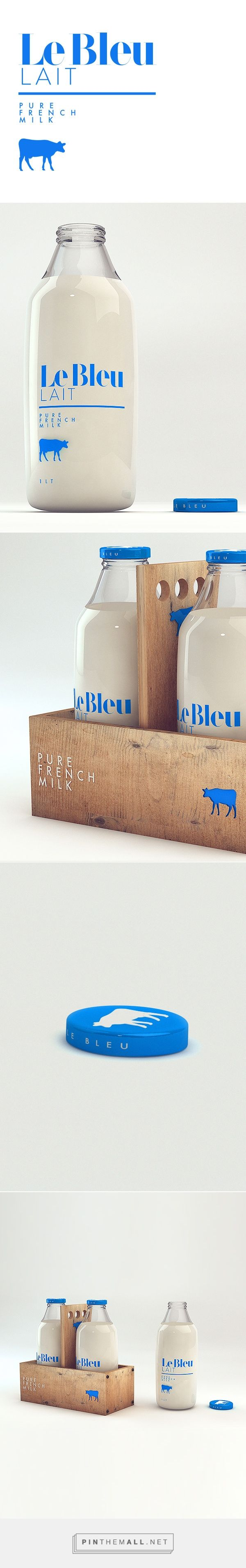 Le Bleu Lait on Behance by Isabela Rodriguez curated by Packaging Diva PD. One more milk favorite packaging I couldn't resist.