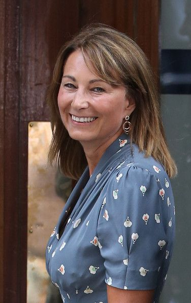Carole Middleton Photos - Carole Middleton arrives at The Lindo Wing to visit her daughter Catherine, Duchess Of Cambridge and her…