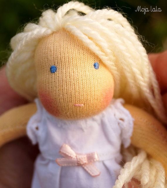 Reserved for Kelly. Tiny Waldorf Doll. Baby Waldorf by Mojalala
