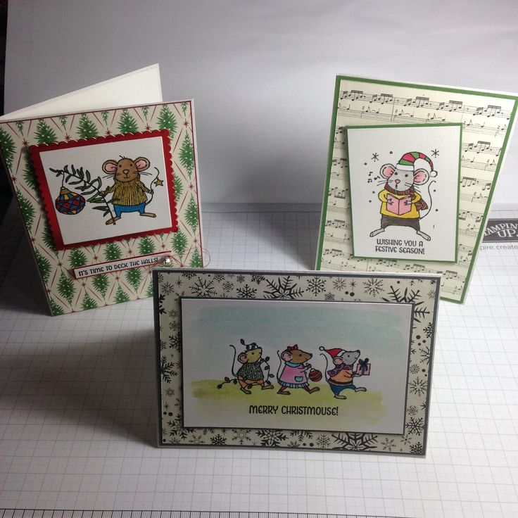 Stampin Up! Merry Mice made by Marlene Goulder