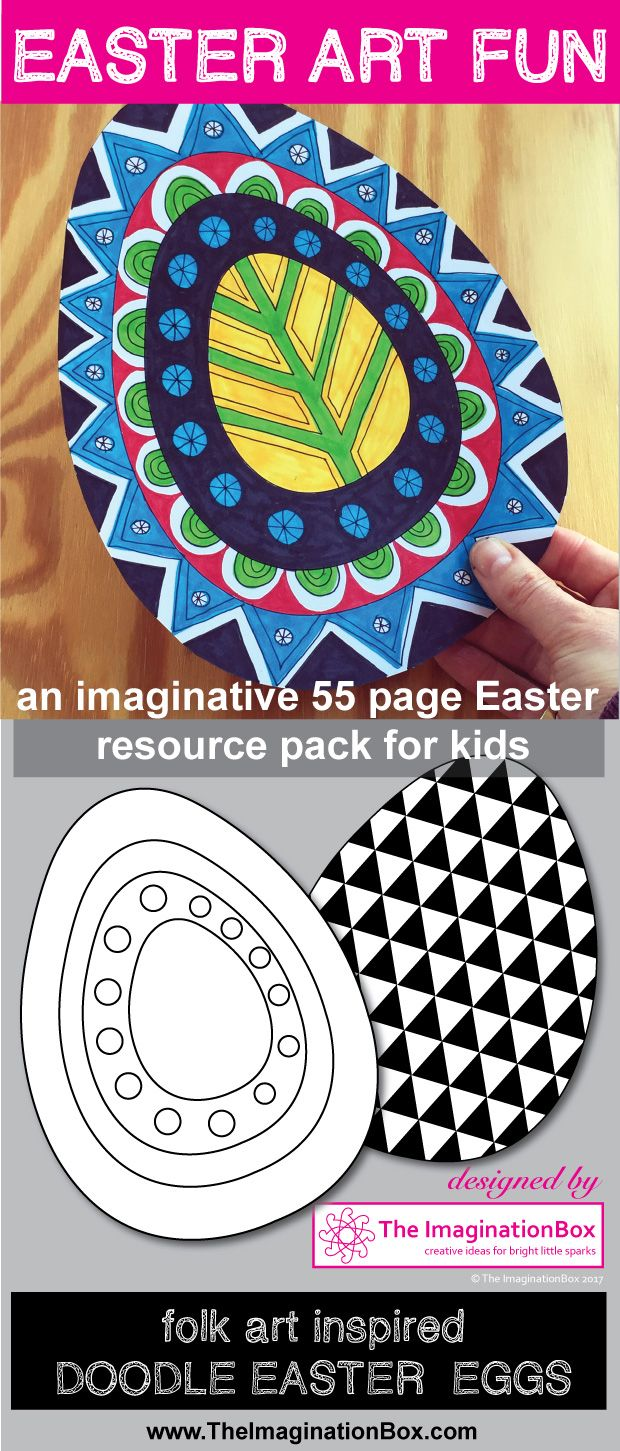 This fun bumper kids Easter themed art and craft resource pack has been designed to encourage students to explore shape, color, design and pattern in an abstract, contemporary, experimental way and to provide plenty of Easter themed decorations to enhance the classroom environment. Templates include bunnies, chicks, hens and Easter eggs and are suitable for multi levels of creative ability. Please click on the link to see the full resource pack imagery.