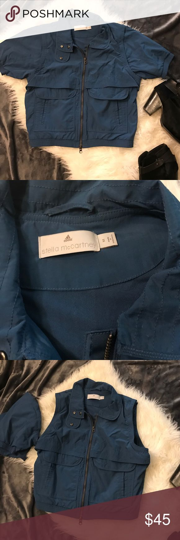 Adidas Stella MacCartney windbreaker 2-in-1 vest Awesome windbreaker and vest ( sleeves can be unzipped) barely worn. Excellent condition 100% nylon Adidas Jackets & Coats