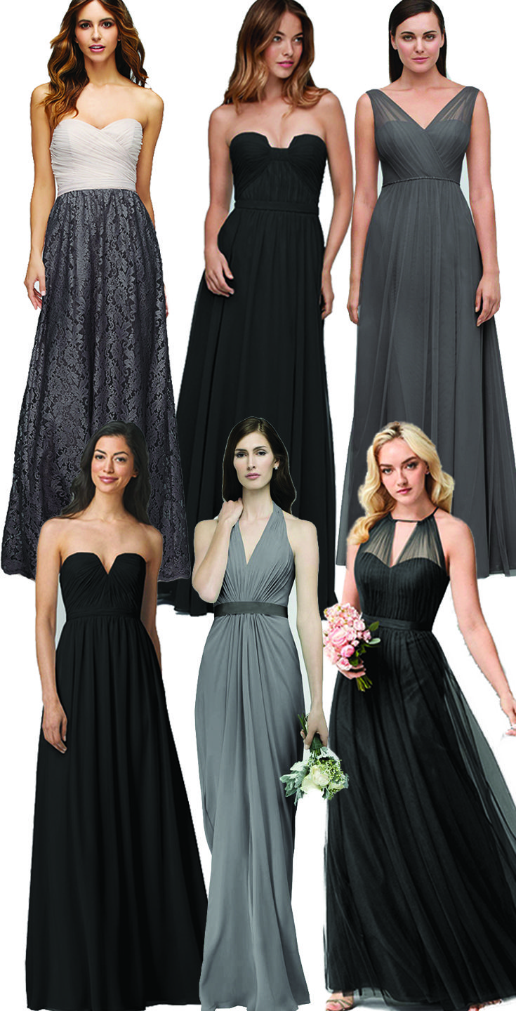 59 best red bridesmaid dresses images on pinterest red how to mix and match black and gray bridesmaids dresseslace chiffon ombrellifo Image collections