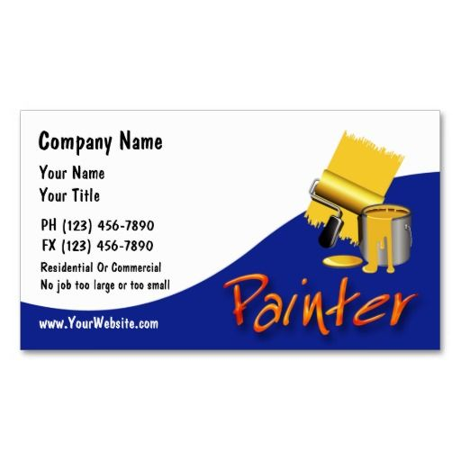 17 best painter business cards images on pinterest business cards painter business cards colourmoves Image collections