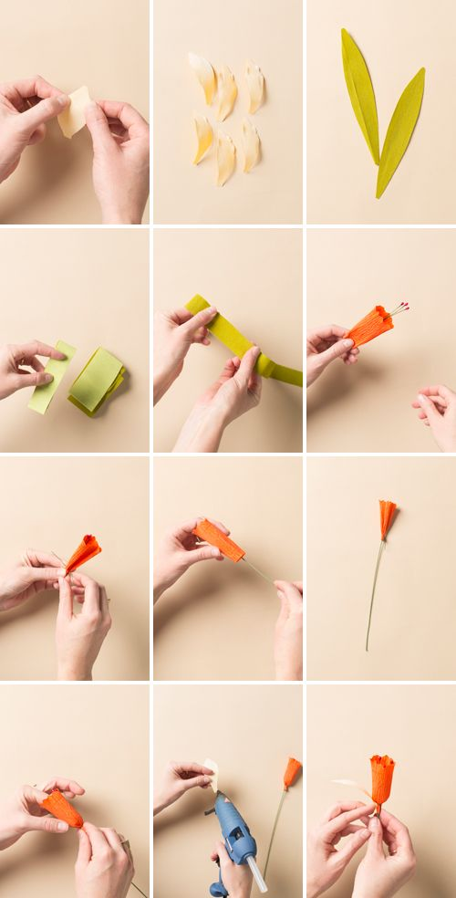 How to make a paper flower daffodil - The House That Lars Built