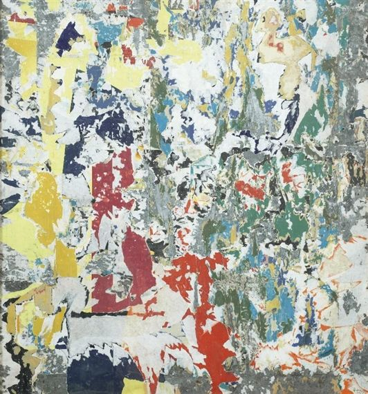 Raymond Hains - Composition, 1961, Torn posters on... on MutualArt.com