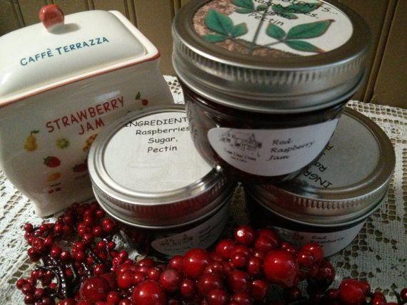 Red Raspberry Jam by sweetpeaspantry on Etsy, $4.00
