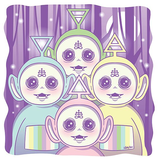 IM SCREAMING THAT IS A FRICKING UPSIDE DOWN CROSS ON THEIR FOREHEADS THEY ARE SPAWNS OF SATAN