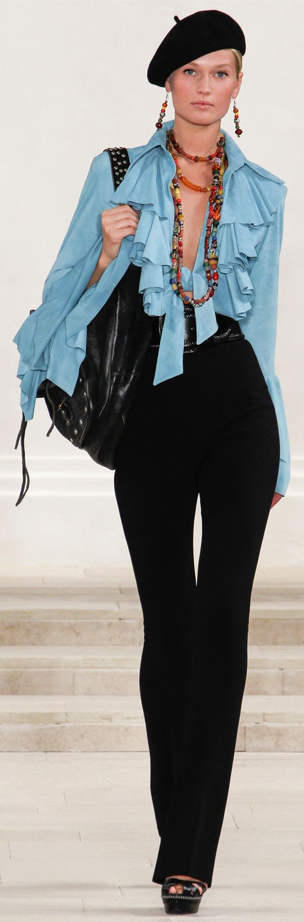 1123 Best Clothes Images On Pinterest Blouse Blouses And Dress Skirt Minimal Floral Emb Crop Trouser Jet Black Hitam L Ralph Lauren Spring 2013 Ready To Wear Fashion Show Toni Garrn
