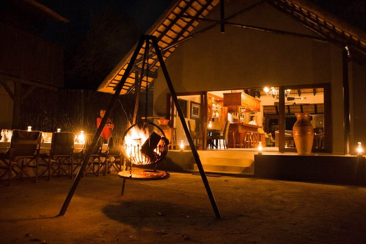 Selati Camp boma looks spectacular and ready to welcome guests back from safari for dinner! PhonePic by Matthew Dyson