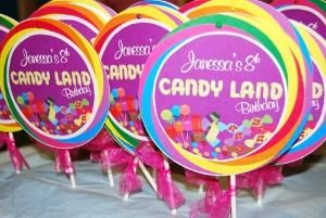 Cute candy land party favors by josefina