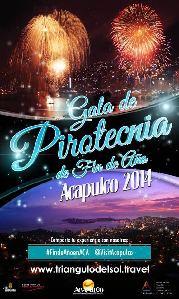 Cop@news Informa: #tictoc a unos cuántos días Copacabanos!!! Gala de Pirotecnica de Fin de Año #Acapulco2014-2015 =)