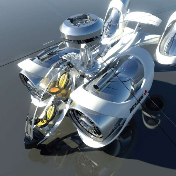 Aerial Rescue Chopper 5 - Futuristic Surveillance Helicopters