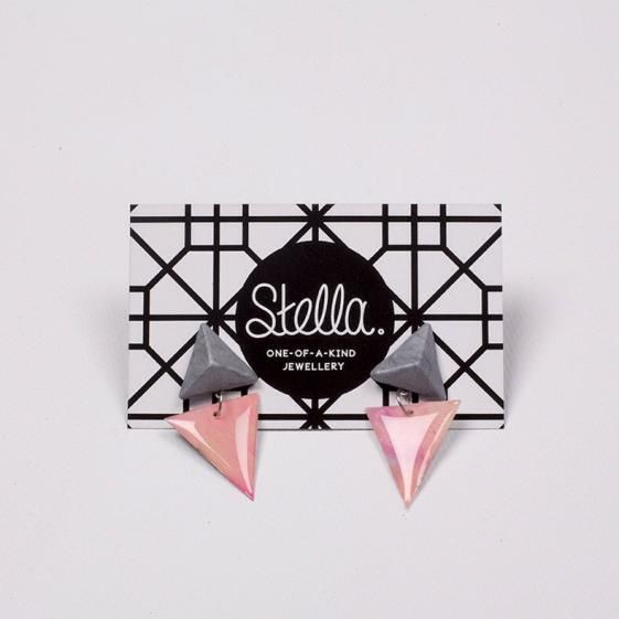 Round She Goes - Market Place - Stella triangle earrings