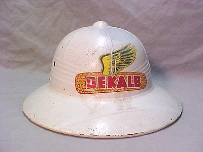 Vintage 1950s dekalb seeds flying ear of corn pith helmet for Dekalb tattoo company