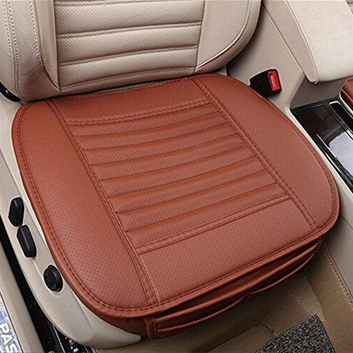 Coussin de siège de voiture, CONMING Coussin de siège de voiture transpirable Car Seat Coussin de siège de voiture en cuir PU et bambou…