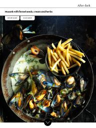 Waitrose Food February 2017: Mussels with fennel seeds, cream and herbs