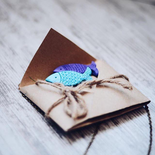 Fish brooch polymer clay jewelry, polymer clay brooch