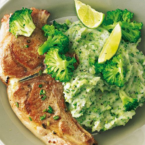 Lammkoteletts mit Brokkoli und Limette