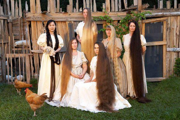 Really Long Hair Styles: Family With Long Hair
