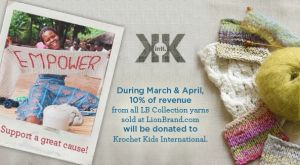 Lion Brand Yarn Gives Generously to Krochet KidsInternational Lion Brand Yarns has just announced their new charity awareness campaign for Krochet Kids International.