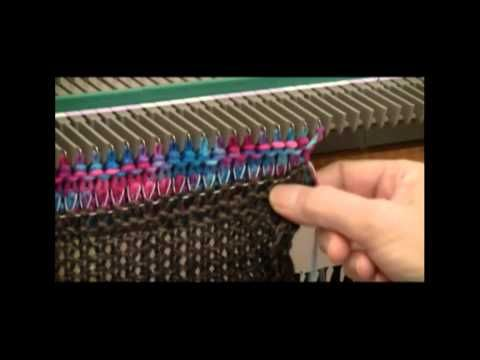 USM (ULTIMATE SWEATER MACHINE): DIANA SULLIVAN: USM Cast-On Rag:  Useful tool for 50 stitches or less...