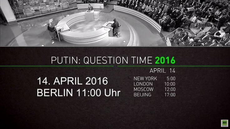 """Live: """"Heißer Draht"""": Wladimir Putins Fragestunde in Moskau - deutsche Ü..."""