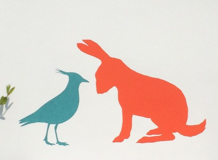 LAPWING AND HARE (2016) Screenprint by Emma Evans-Freke | Artfinder