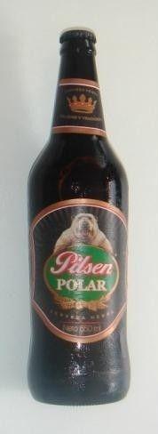 Cerveja Pilsen Polar, estilo Dark American Lager, produzida por Backus, Peru. 5.5% ABV de álcool.