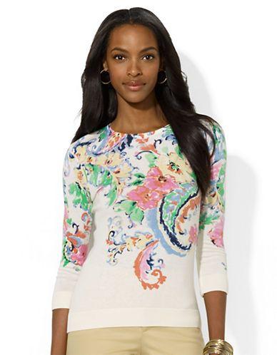 LAUREN RALPH LAUREN Floral Crewneck Sweater