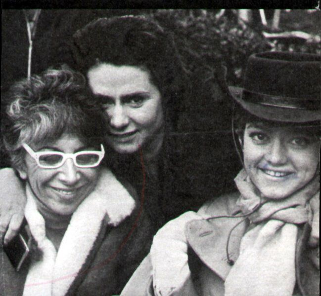 Rita Pavone y su madre.