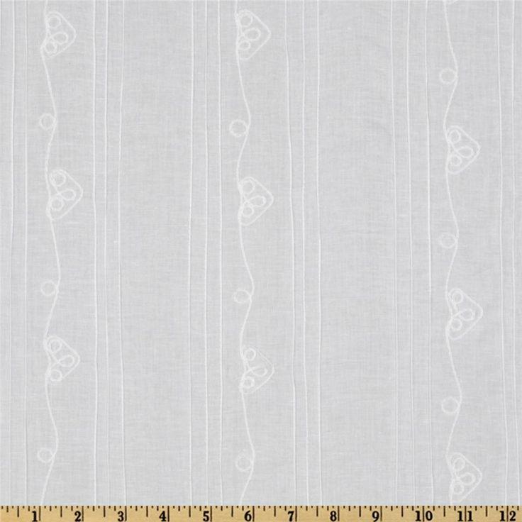 Pintuck Batiste Strip White, $9.98/yd
