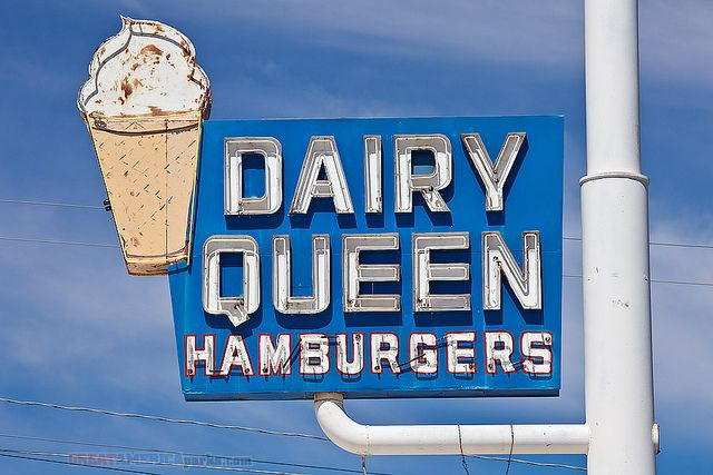 vintage Dairy Queen sign by ezeiza, via Flickr