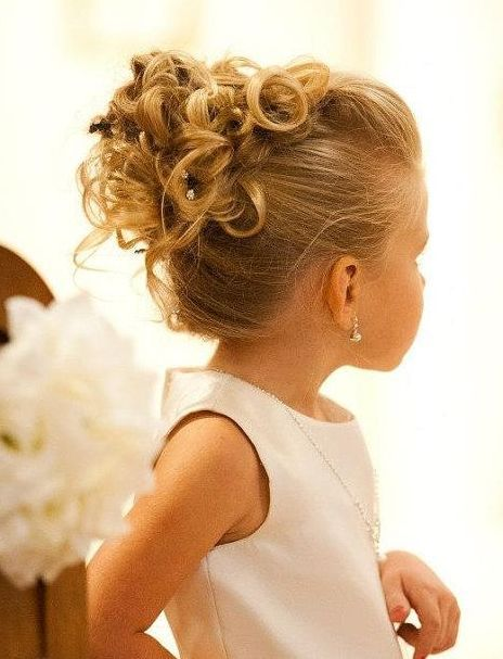 flower girl hairstyles with headband - Google Search ...