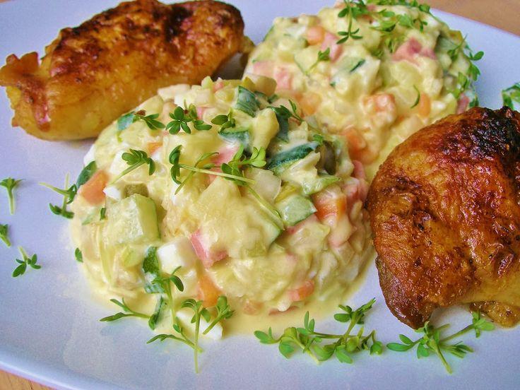 "V kuchyni vždy otevřeno ...: "" Bramborový "" salát bez brambor - z cukety"